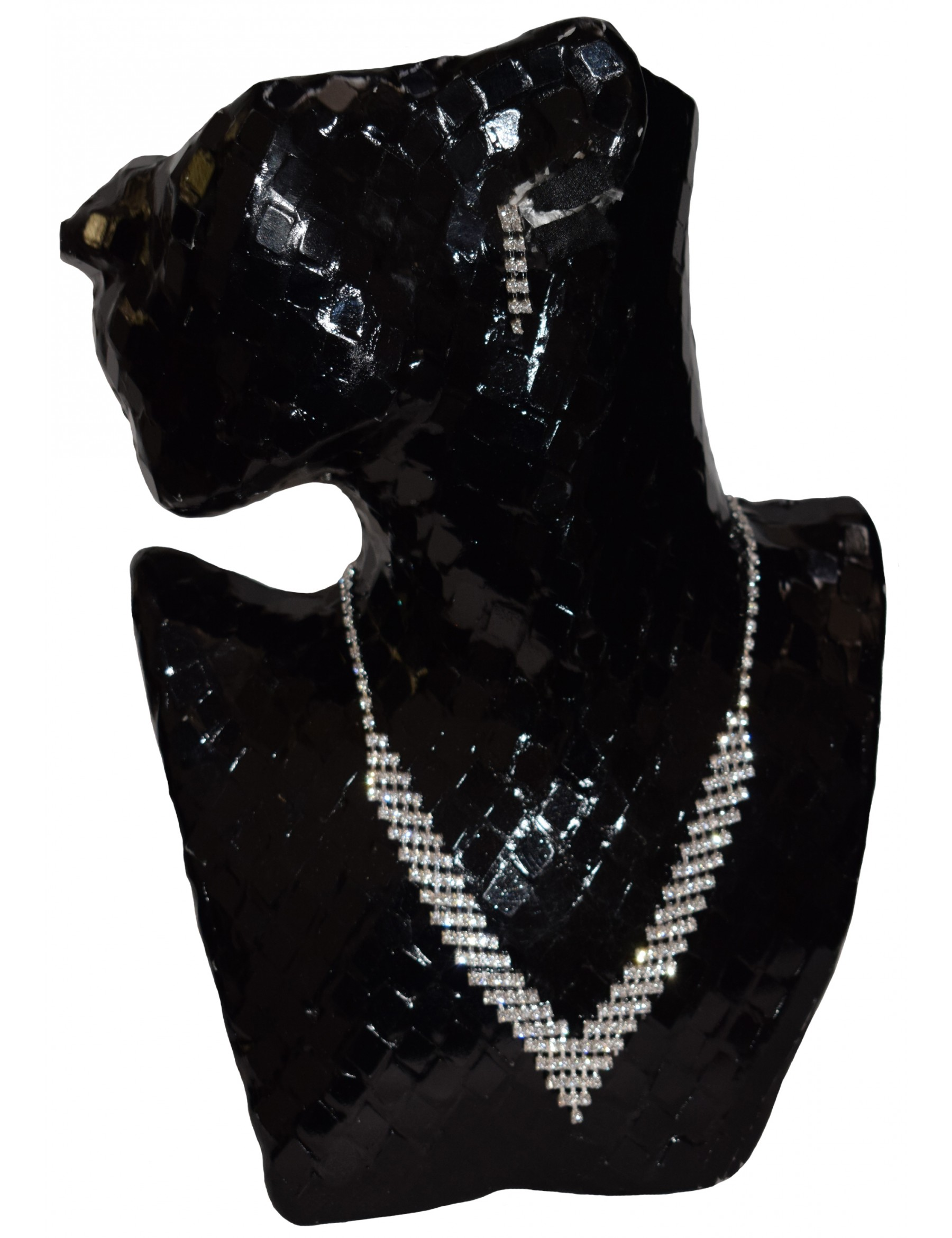 Bridal Crystal Earring and Necklace Set