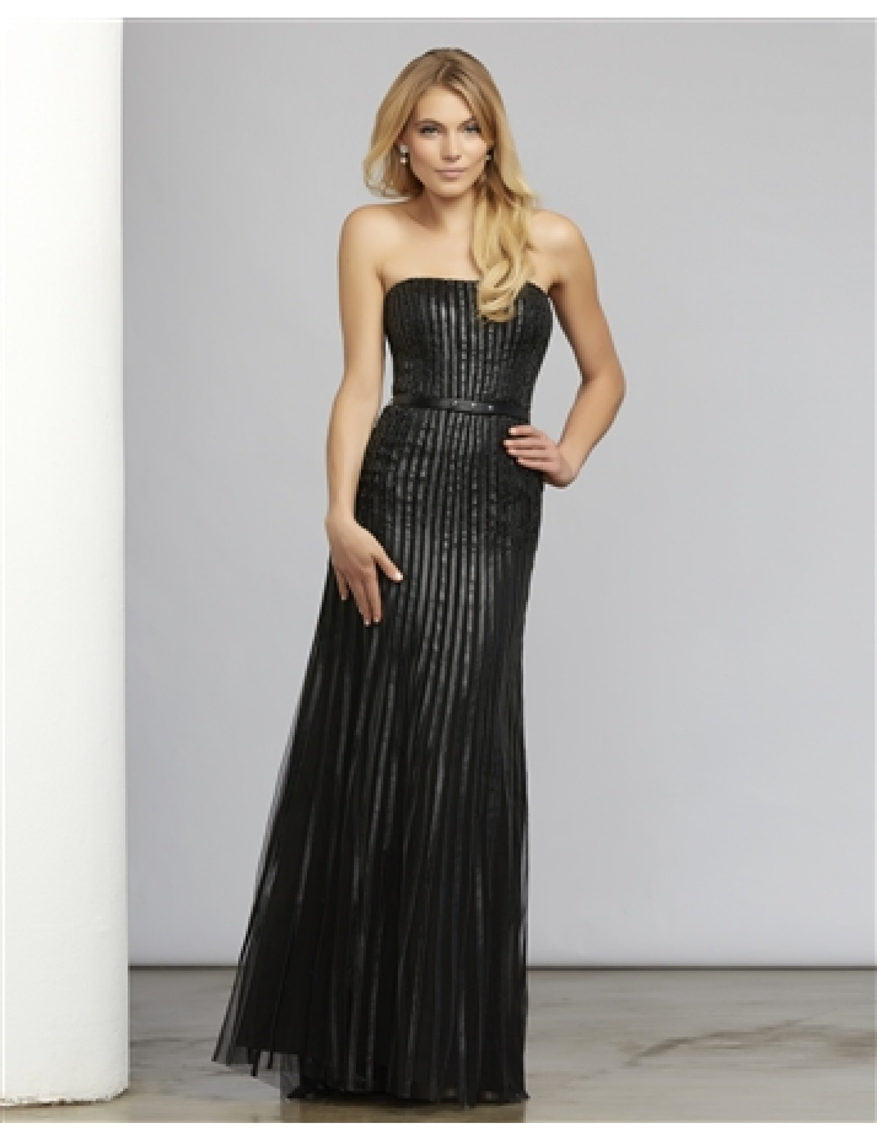 Mac Duggal 7508  Pleather Strapless