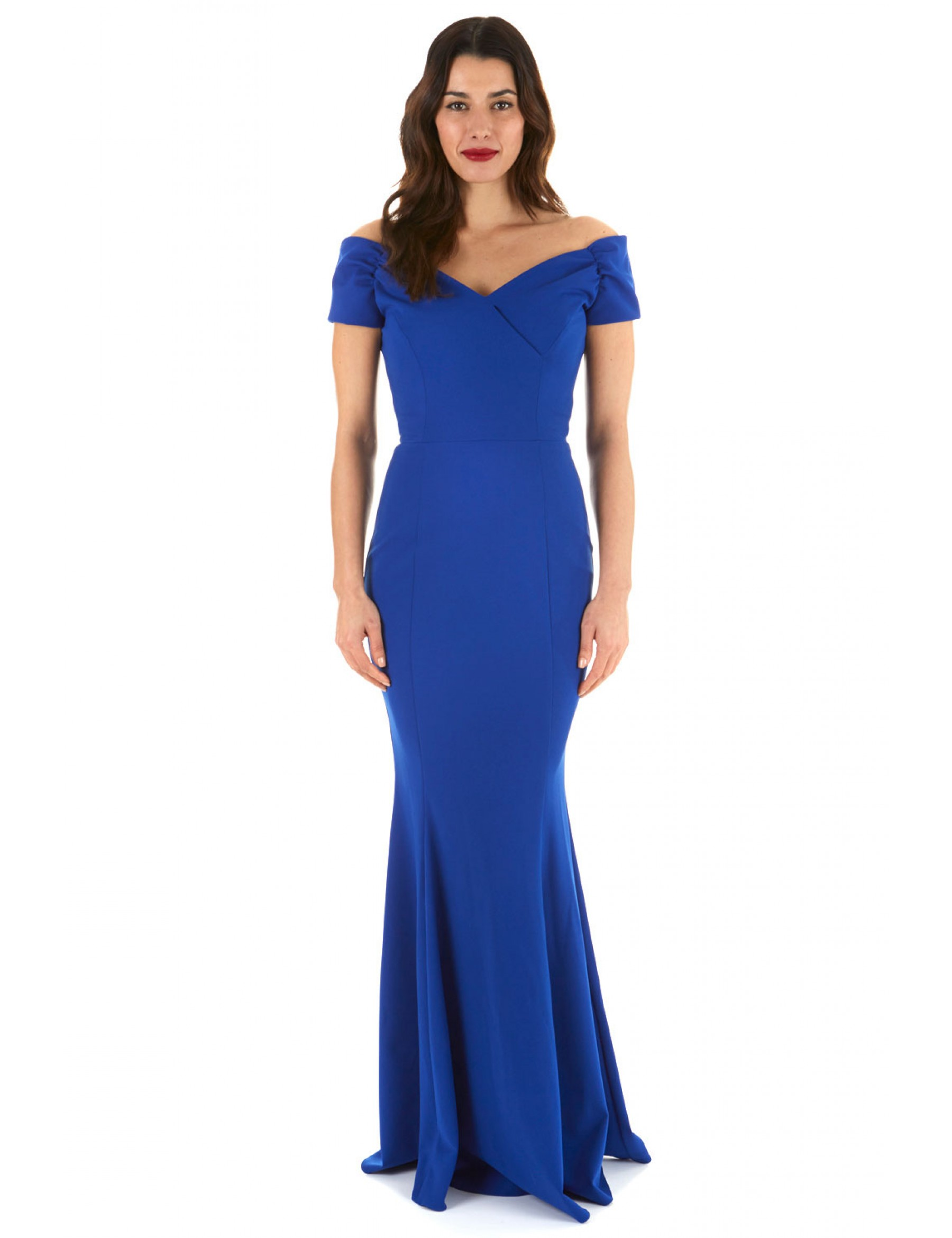 Off The Shoulder Fishtail Evening Dress