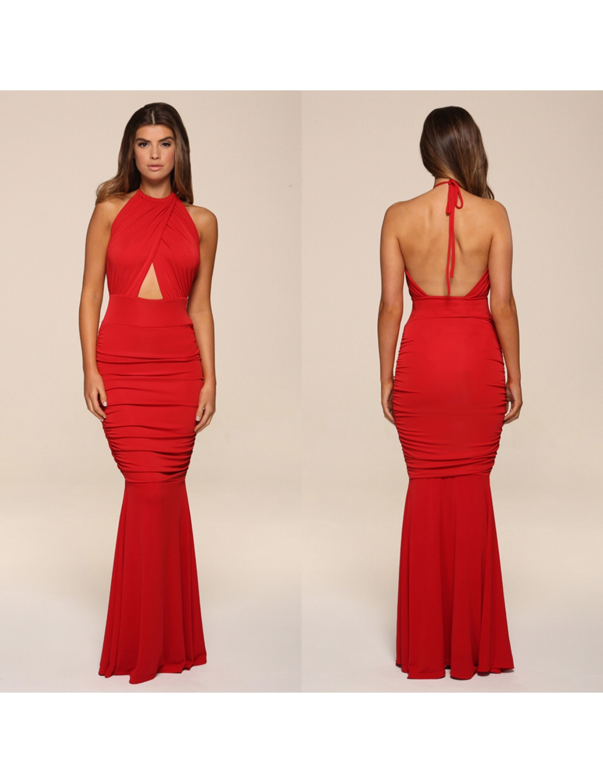 fishtail slinky Evening Dress