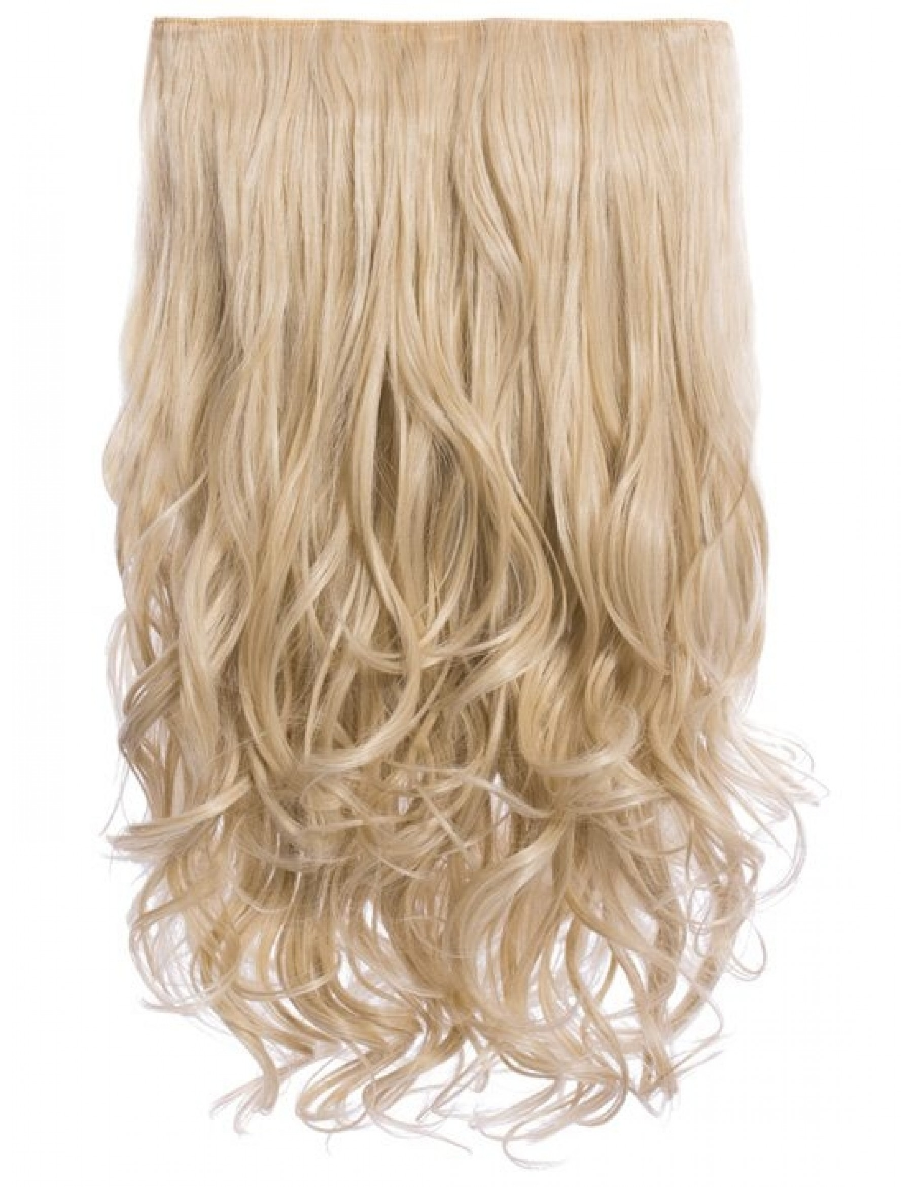 Selena 1 Weft Curly 20 Hair Extensions In Light Golden Blonde