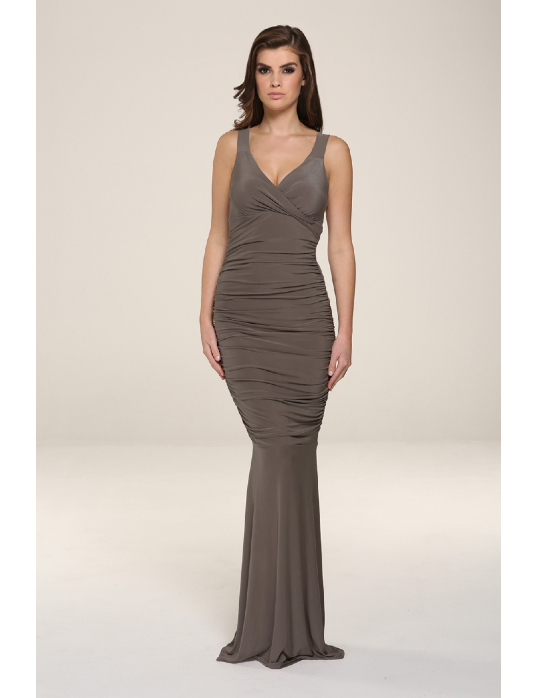 Gabriella Mocha Evening Dress