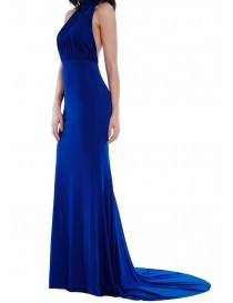 High Neck Jersey Evening Dress