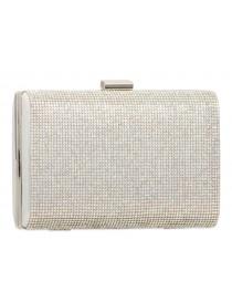 Silver Rhinestone Clutch Evening Bag