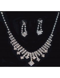 Rhinestone Necklace and Earring set