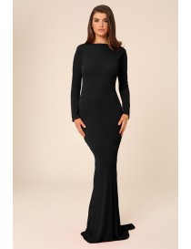 Long Sleeve Jersey Evening Dress