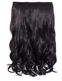 Selena 1 Weft Curly 20″ Hair Extensions In Raven Black