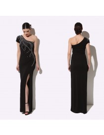 Nadine Black Evening Dress
