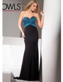 Tony Bowls Le Gala 115545 Beaded Jersey Dress - 1
