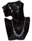 Blue and Silver Rhinestone Jewellery Set