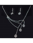 Bridal Crystal Rhinestone Jewellery Earring Set