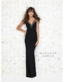 Madison James by Allure Black Evening Dress - 1