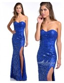 Milano E1826 Royal Blue Sequin Gown - 1