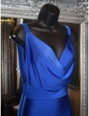 Royal Blue Scoop Neckline Fishtail