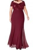 Cap Sleeve Bodice Evening Dress