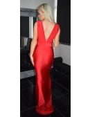 Jersey Low V Neck Evening dress