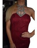 Choker Necklace Lace Dress
