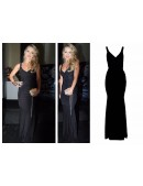 Slinky Ruched Evening Dress