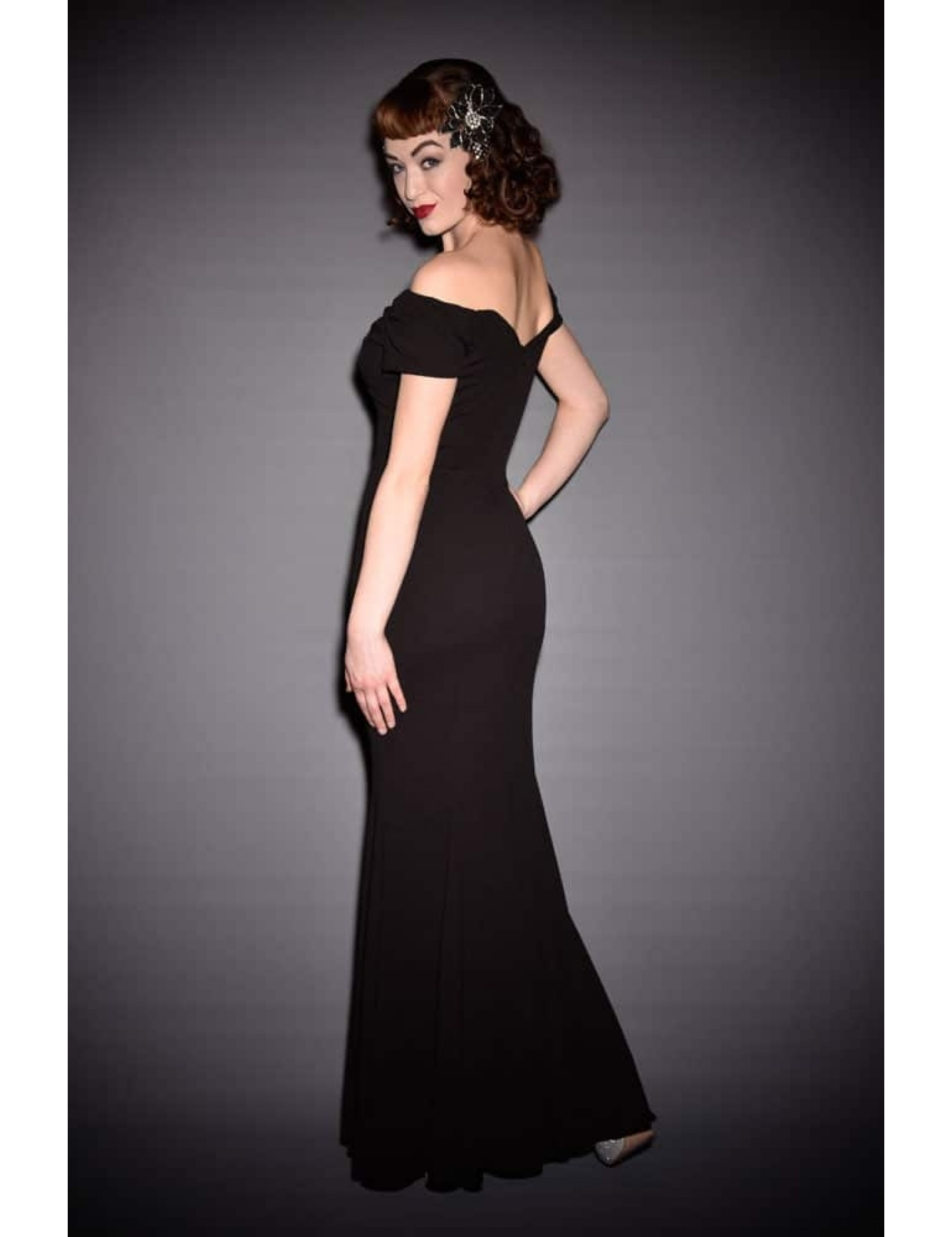 Black Fishtail Evening Dress