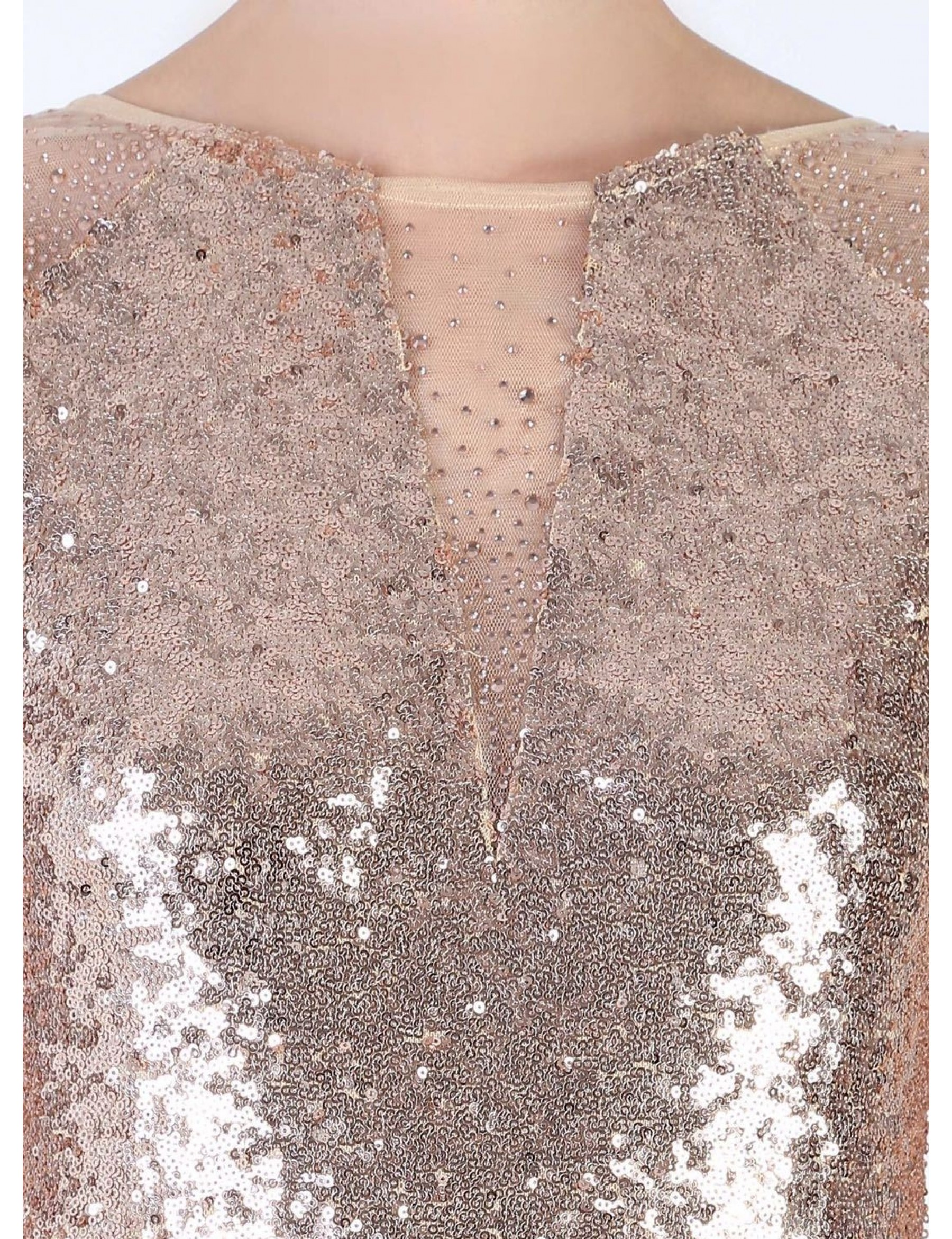 Full Sequin Evening Dress
