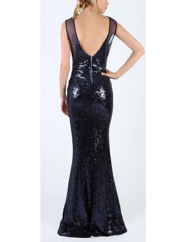 Full Sequin Evening Dress