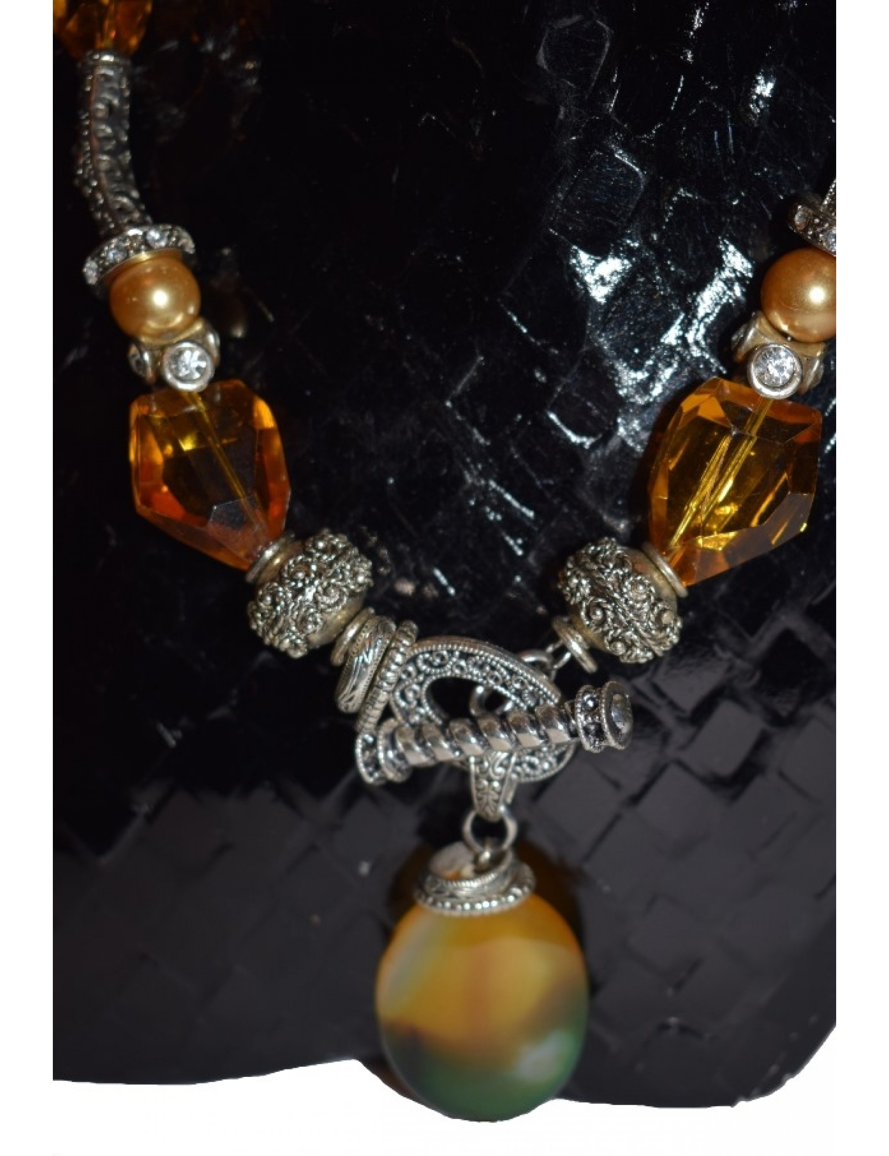 Amber Natural Stone Necklace