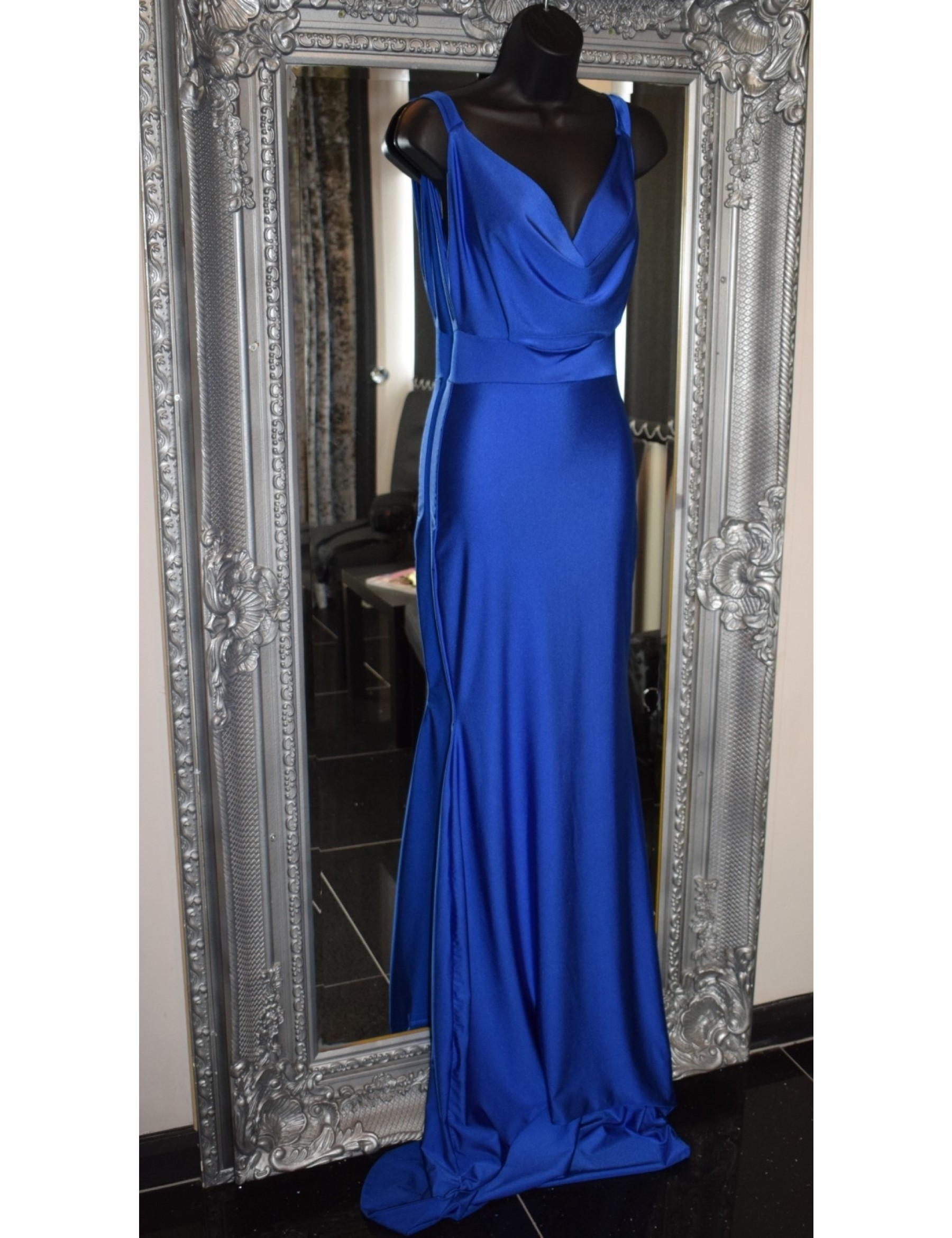 Royal Blue Scoop Neckline